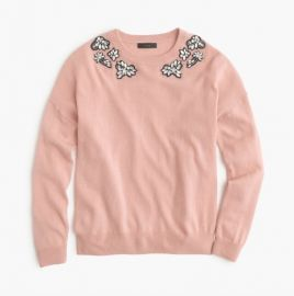 Opal-embellished Sweater at J.Crew
