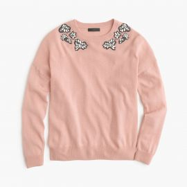 Opal-embellished sweater in  Pink at J. Crew