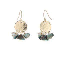 Opalite Disc Earrings at Peggy Li