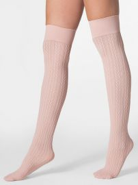 Opaque Over-the-Knee Cable Knit Sock at American Apparel