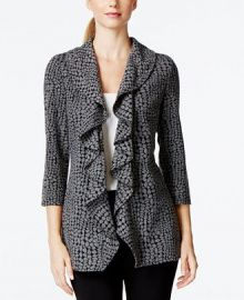 Open-Front Ruffle Soft Jacket at Macys