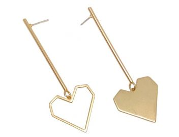 Open Heart Drops Earrings by Accessory Concierge at Accessory Concierge