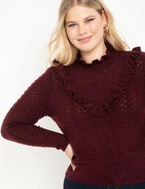 Open Stitch Sweater at Eloquii