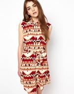 Open back geo print dress by Vena Cava at Asos