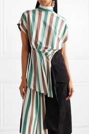Open-back stretch-jersey and satin-jacquard top by Loewe at Net A Porter
