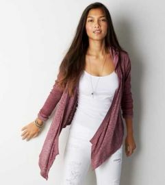 Open hooded cardigan at American Eagle