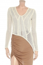 Open web knit sweater by Helmut Lang at Outnet