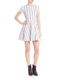 Opening Ceremony - Striped Fit- -Flare Dress at Saks Off 5th
