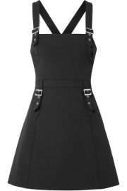 Opening Ceremony - William buckled stretch-cady mini dress at Net A Porter