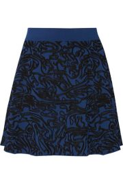 Opening Ceremony  Intarsia stretch-knit mini skirt at Net A Porter