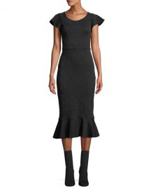 Opening Ceremony Lotus Off-the-Shoulder Jacquard Midi Dress at Neiman Marcus