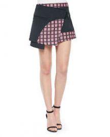Opening Ceremony Marny Knit Utility Miniskirt BlackMulti at Neiman Marcus