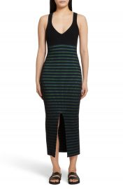 Opening Ceremony Ribbed Stripe Midi Dress at Nordstrom