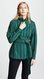 Opening Ceremony Stripe Belted Long Sleeve Top at Shopbop