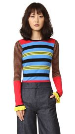 Opening Ceremony Striped Long Sleeve Crew Neck Top at Shopbop
