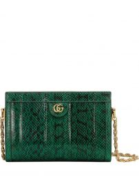 Ophidia small snakeskin shoulder bag at Farfetch