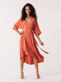 Orange Eloise Dress at Diane von Furstenberg