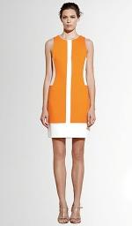 Orange retro dress worn by Tina at Pinktartan