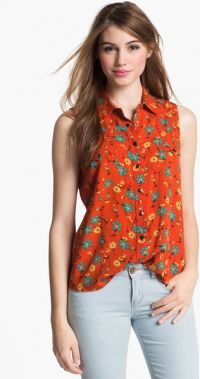 Orange sleeveless shirt by Vince Camuto at Nordstrom