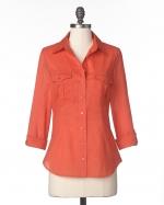 Orange utility shirt like Pennys  at Coldwater Creek