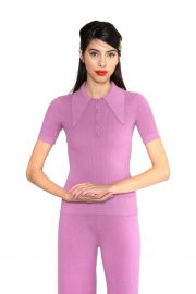Orchid Dusk Peachskin Polo by Joostricot at Joostricot