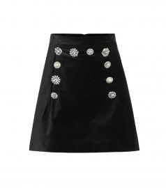 Ording velvet miniskirt at Mytheresa