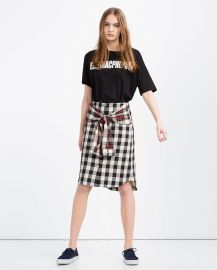 Organic Cotton Shirt Style Skirt at Zara