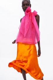 Organza Blouse with Bow Detail by Zara at Zara