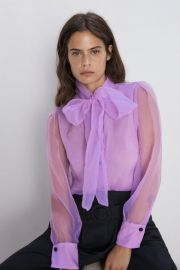 Organza Blouse with Bow by Zara at Zara