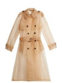 Organza trench coat at Matches