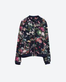 Oriental Print Bomber Jacket at Zara