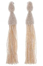 Oscar de la Renta Long Tassel Drop Clip Earrings at Nordstrom