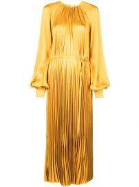 Oscar De La Renta Pleated Maxi Dress - Farfetch at Farfetch