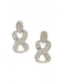 Oscar de la Renta - Crystal Pav   Chain Link Clip-On Earrings at Saks Fifth Avenue