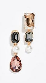 Oscar de la Renta Bold Crystal Earrings at Shopbop