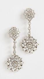 Oscar de la Renta Classic Jeweled Drop Earrings at Shopbop