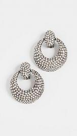 Oscar de la Renta Pave Knock Hoop Earrings at Shopbop