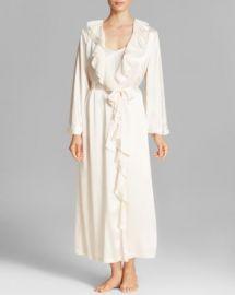Oscar de la Renta Signature Satin Long Robe at Bloomingdales