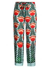 Oscar de la Renta Sleepwear - Floral Silk Pajama Pants at Saks Fifth Avenue