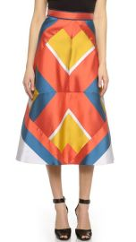 Ostwald Helgason Patchwork Mikado Skirt at Shopbop