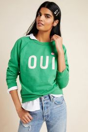 Oui Sweatshirt by Clare V. for Anthropologie at Anthropologie