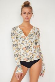Out From Under Scarlett Notch Henley Top at Urban Outfitters