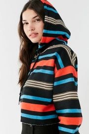 Out From Under Striped Cropped Hoodie Sweatshirt Urban Outfitters at Urban Outfitters