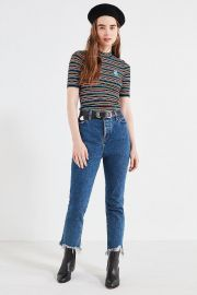 Outfitters UO Zola Striped Mock-Neck Top at Urban Outfitters