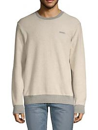 Ovadia  amp  Sons - Textured Cotton Sweatshirt at Saks Off 5th