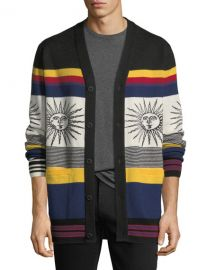 Ovadia  amp  Sons Striped Sunny Wool Cardigan   Neiman Marcus at Neiman Marcus