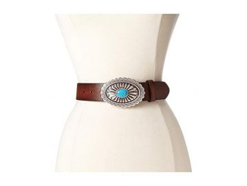Oval buckle belt at Zappos