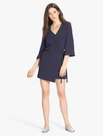 Overlay dress with tie at Halston