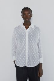 Oversided Blouse with Embroidered Dots by Zara at Zara