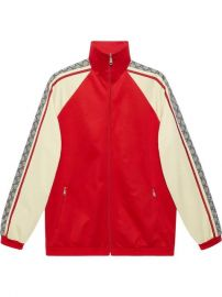 Oversize technical jersey jacket at Gucci